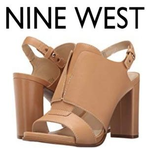Pre-fall Nine West Poplock Natural Leather Mules